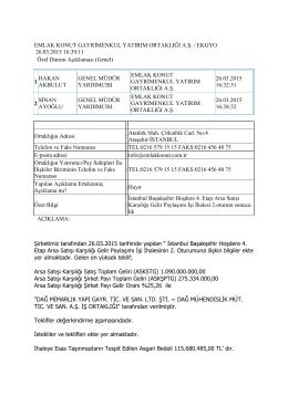 İstanbul Başakşehir Hoşdere 4. Etap Arsa Satışı