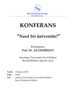 KONFERANS - Türk Toksikoloji Derneği