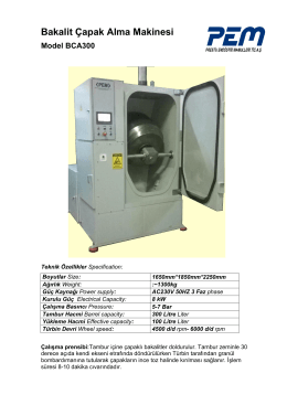 Bakalit Çapak Alma Makinası BCA300