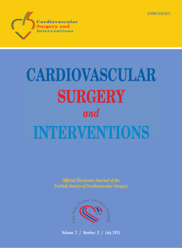 2 Vol: 2 Year - Cardiovascular Surgery and Interventions