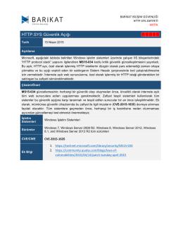 HTTP.SYS Güvenlik Açığı