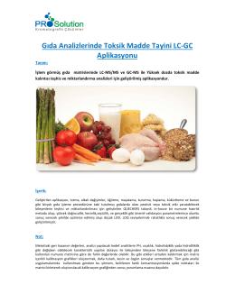 Pişmiş Gıdalarda Pestisit Kalıntısı LC
