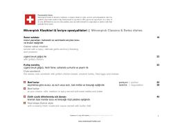 Mövenpick Classics & Swiss dishes