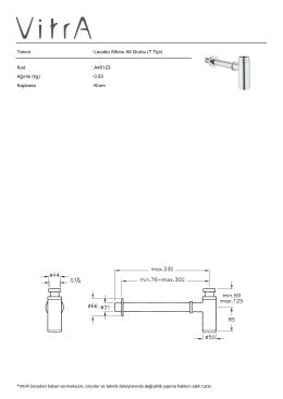 Lavabo Sifonu Alt Grubu (T Tipi) Kod : A45123 Ağırlık (kg)