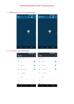 Android Wifi İçin Proxy Ayarları