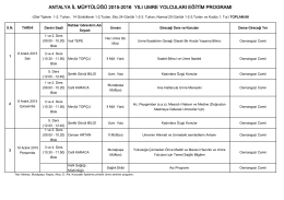 antalya il müftülüğü 2015-2016 yılı umre yolcuları