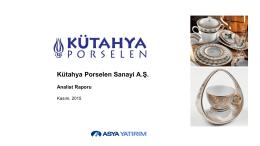 Kütahya Porselen Değerleme Raporu