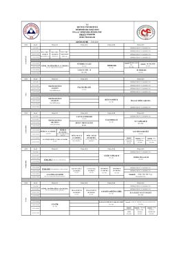 2014-2015 Bahar Dönemi Lisans Ders Programı (17.02.2015)