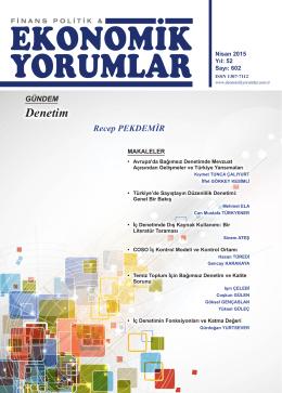 Denetim - Finans Politik & Ekonomik Yorumlar Dergisi