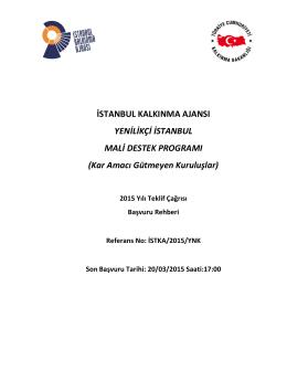 Yenilikçi İstanbul - İstanbul Kalkınma Ajansı