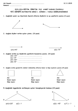 matematik sınav-1