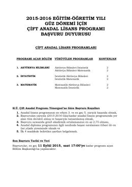 buraya - Hacettepe Üniversitesi Aktüerya Bilimleri Bölümü
