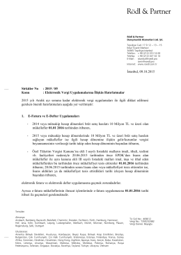 Sirküler No: 2015 / 85