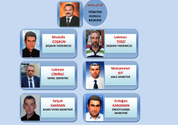 Lokman TERZİ Mustafa COŞKUN Muhammet KIT Lokman CİMİNLİ