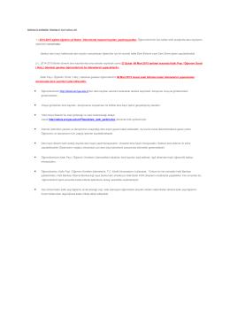 2014/2015 eğitim öğretim yılı bahar yarıyılı kayıt yenileme duyuru