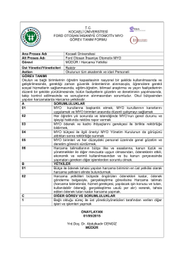 2. Görev Tanımları - Kocaeli Üniversitesi Ford Otosan İhsaniye