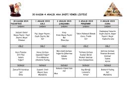 30 kasım-4 aralık ana snıfı yemek listesi