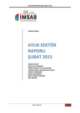 türkiye imsad şubat ayı sektör raporu