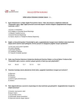 TEST-5 - Buluş İş Sağlığı ve Güvenliği Antalya