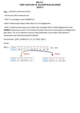 bıl211 veri yapıları ve algoritmalar dersi quız 4