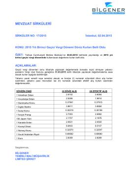 Dosya 1 - Bilgener Yeminli Mali Müşavirlik Ltd. Şti.