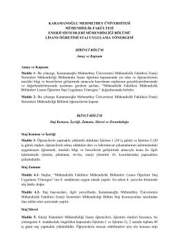 karamanoğlu mehmetbey üniversitesi mühendislik fakültesi enerji