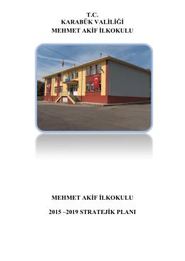 2015-2019 yılı stratejik plan - KARABÜK - MERKEZ