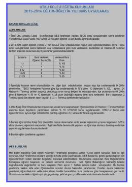 utku koleji eğitim kurumları 2015-2016 eğitim