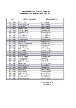 ekim 2015 belletmen öğretmen listesi