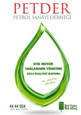 2014 Yılı Atık Motor Yağı Faaliyet Raporu