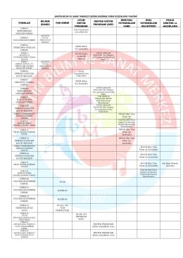 form düzenleme takvimi