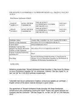 Kocaeli Körfezkent Emlak Konutları 4. Etap
