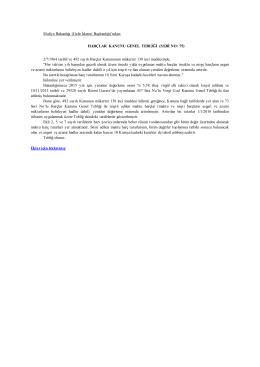 ndan: HARÇLAR KANUNU GENEL TEBLİĞİ (SERİ NO: 75) 2/7/1964