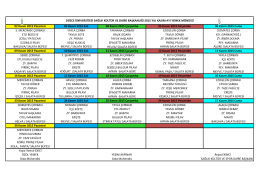 2013 Eylül Yemek Menüsü - Düzce Üniversitesi Sağlık Kültür ve