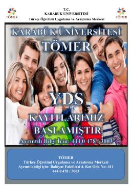 TÖMER Türkçe Öğretimi Uygulama ve Araştırma Merkezi Ayrıntılı