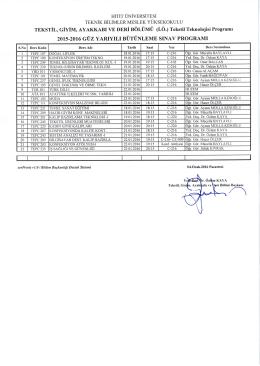 2015‐2016 guz yarıyılıbutunleme sınav programı