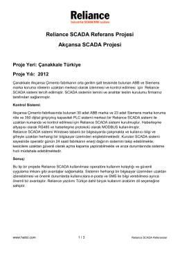 Reliance SCADA Referans Projesi Akçansa SCADA