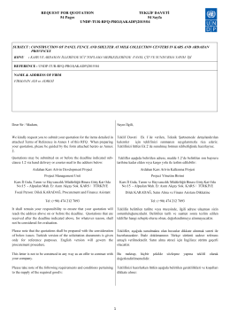 REQUEST FOR QUOTATION TEKLİF DAVETİ 54 Pages 54 Sayfa