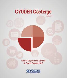 GYODER Gösterge Türkiye Gayrimenkul Sektörü 3. Çeyrek Raporu