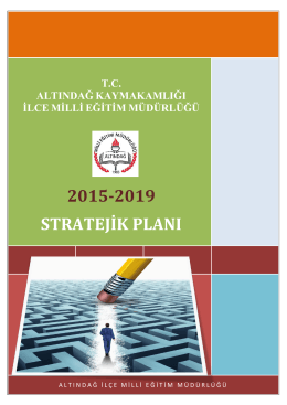 2015-2019 stratejik planı - Altındağ İlçe Milli Eğitim Müdürlüğü