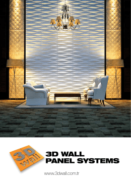 3D WALL PANEL SYSTEMS