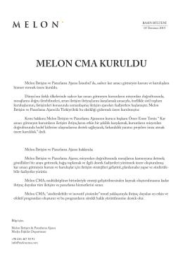 MELON CMA KURULDU