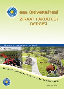 Ziraat Fakültesi Dergisi 52, (3) 2015 : ISSN 1018