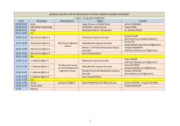 Yıl sonu Seminer - Şenkaya İlçe Milli Eğitim Müdürlüğü