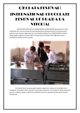 Uluslararası Çikolata Festivali Yarışmaları