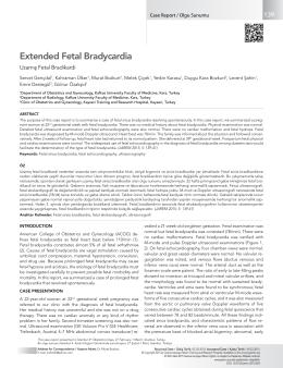 Extended Fetal Bradycardia