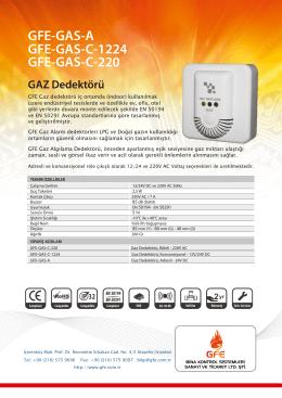 GFE-GAS-A GFE-GAS-C-1224 GFE-GAS-C