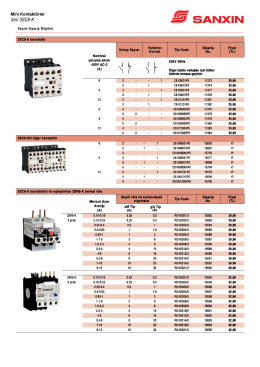 3SC8-K kontaktör Nominal çalışma akımı 400V AC