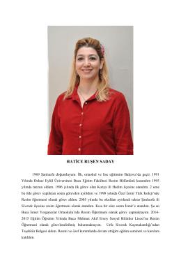 hatice ruşen saday - Mehmet Akif Ersoy Anadolu Öğretmen Lisesi