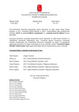 25 Şubat 2015 Tarihli Toplantı Tutanağı